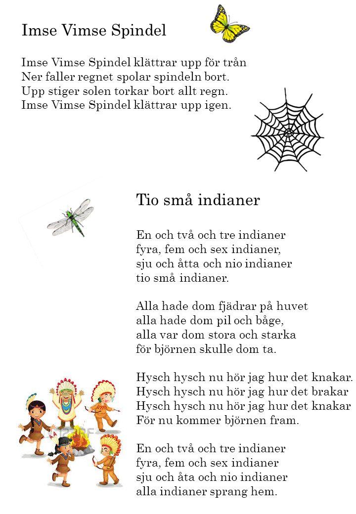 Imse Vimse Spindel Tio små indianer