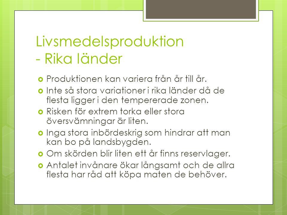 Livsmedelsproduktion - Rika länder