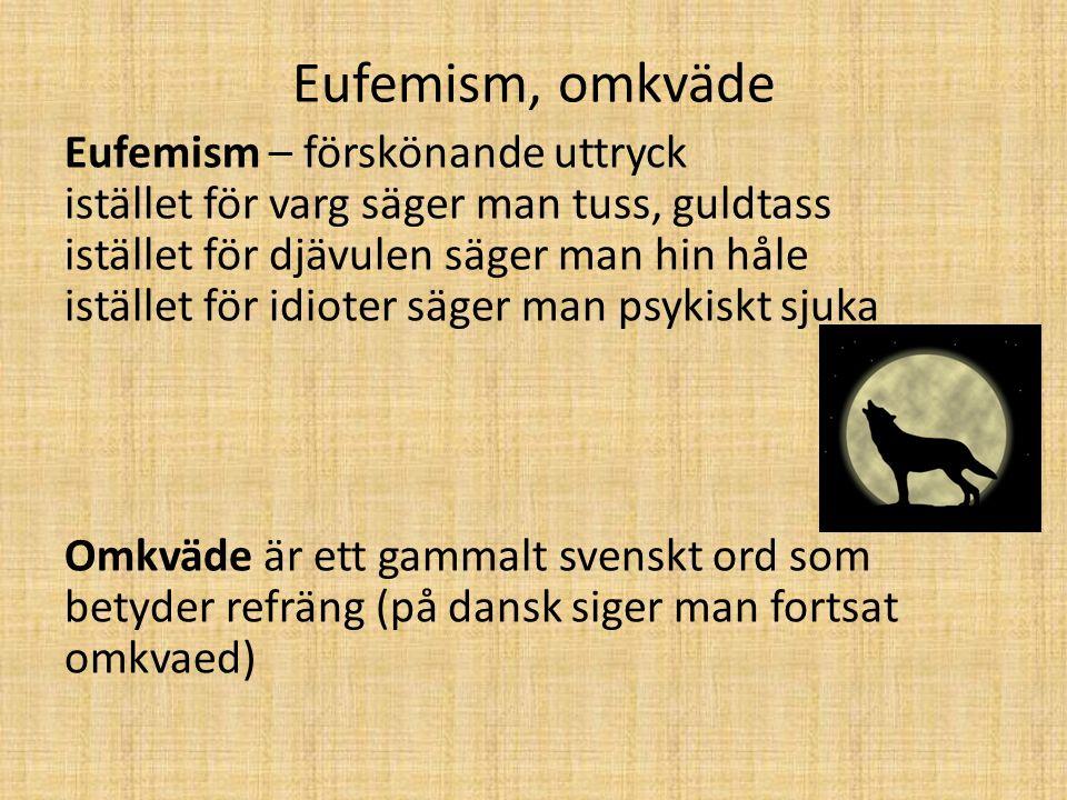 Eufemism, omkväde