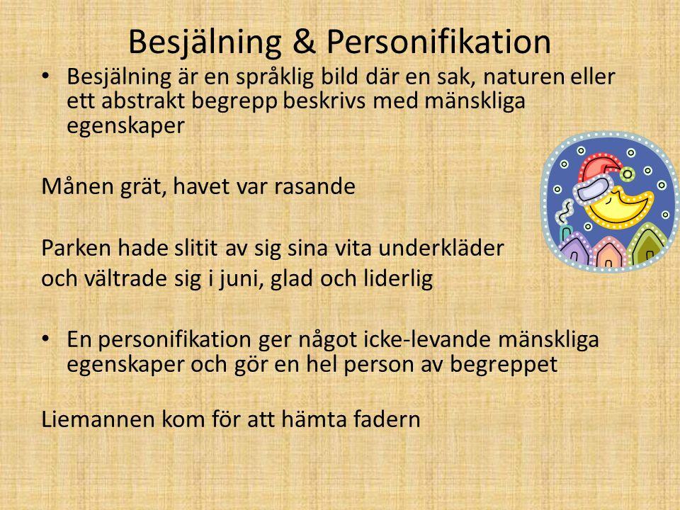 Besjälning & Personifikation