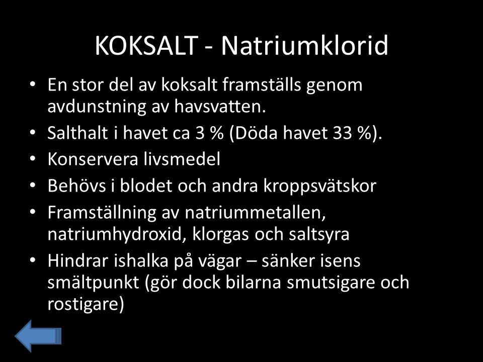 KOKSALT - Natriumklorid