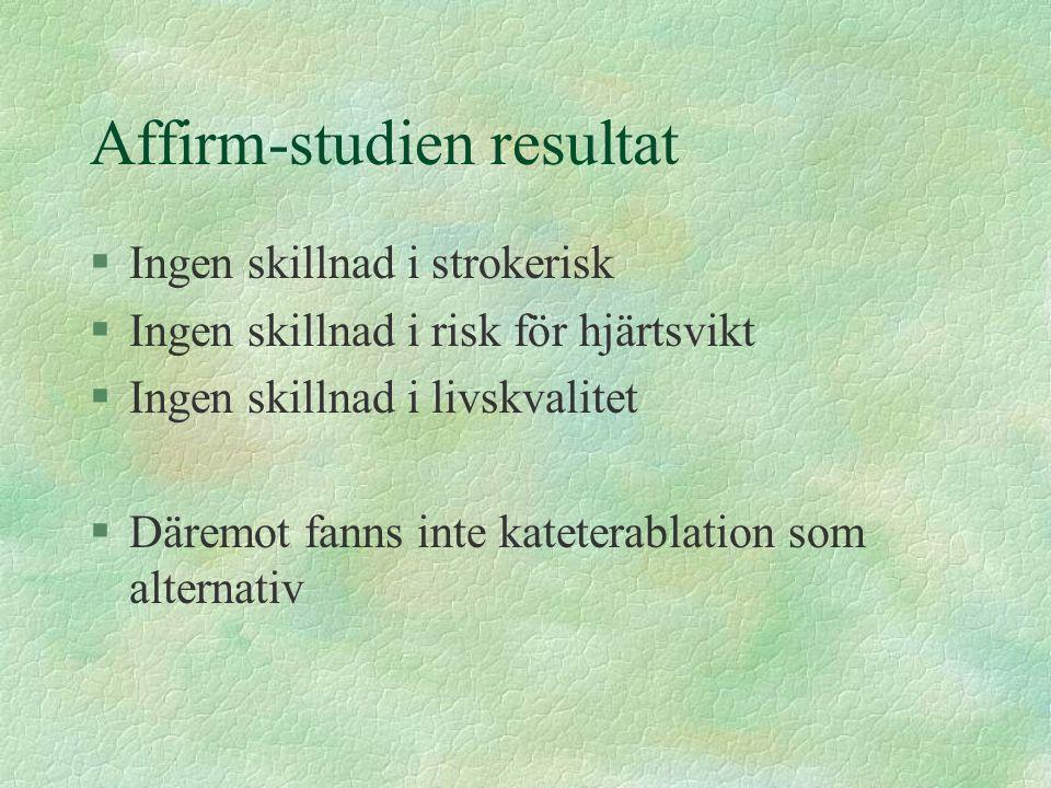 Affirm-studien resultat