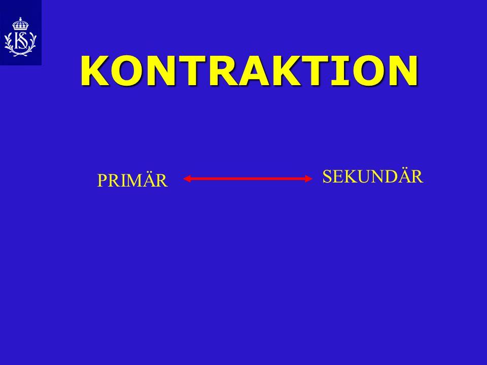 KONTRAKTION SEKUNDÄR PRIMÄR