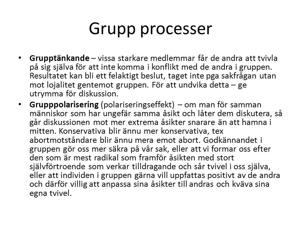 Grupp processer