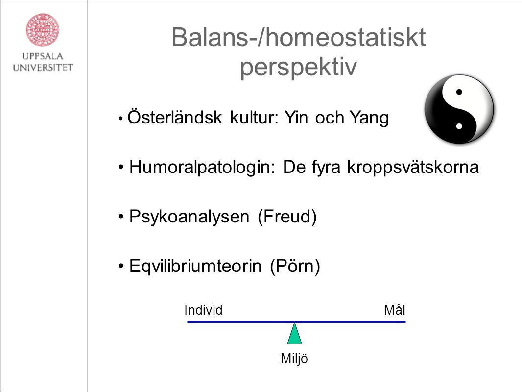 Balans-/homeostatiskt perspektiv