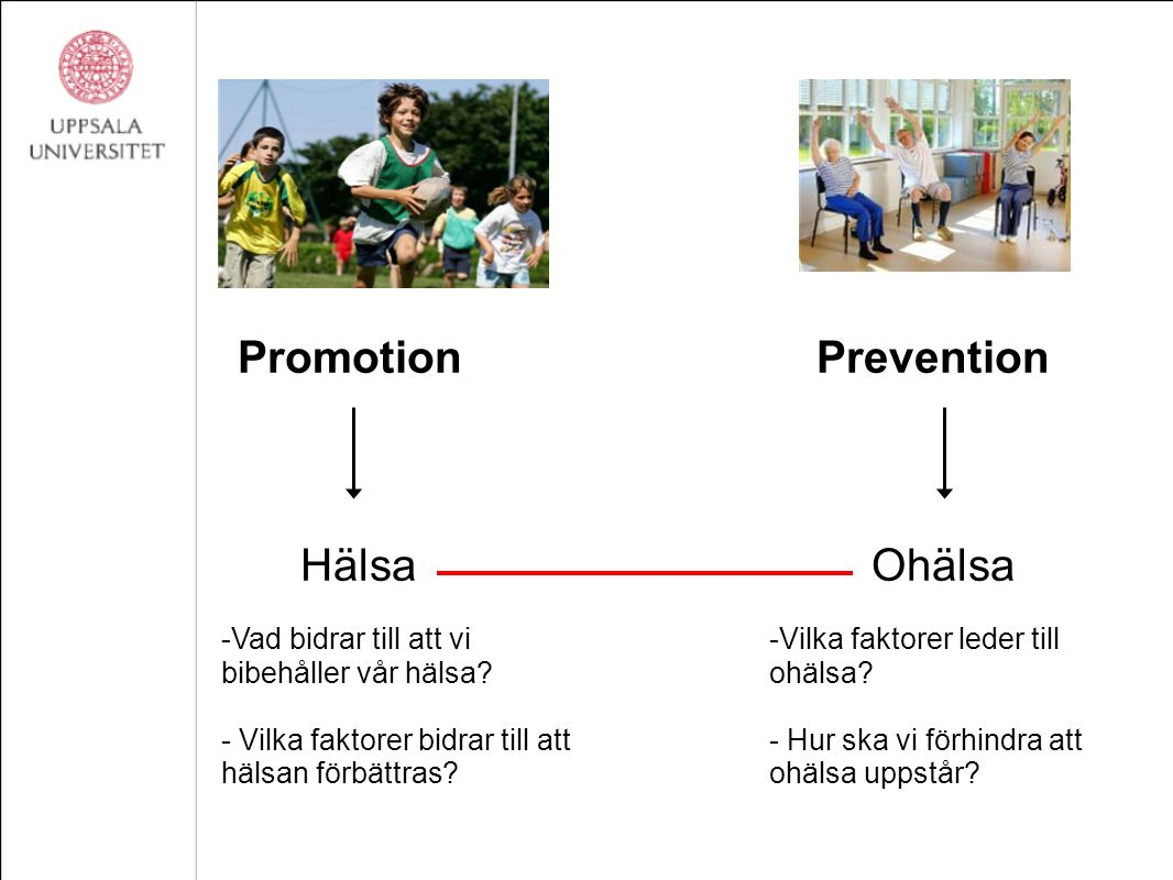 Promotion Prevention Hälsa Ohälsa