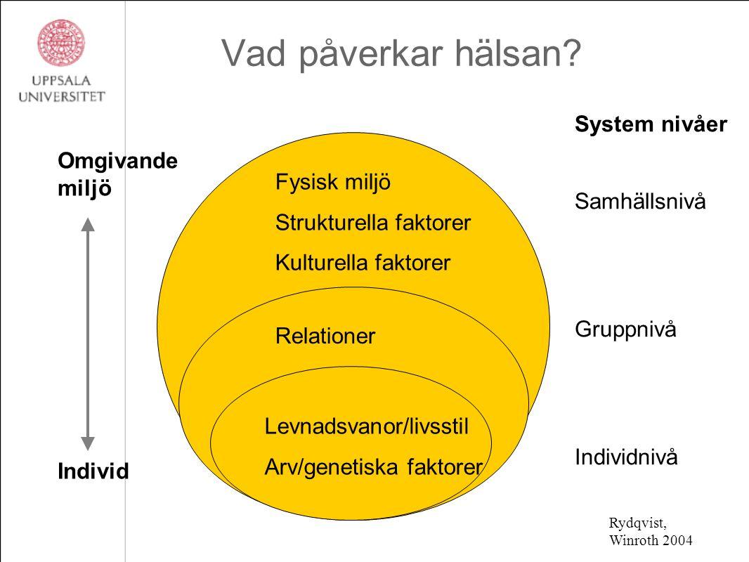 System nivåer Samhällsnivå Gruppnivå Individnivå