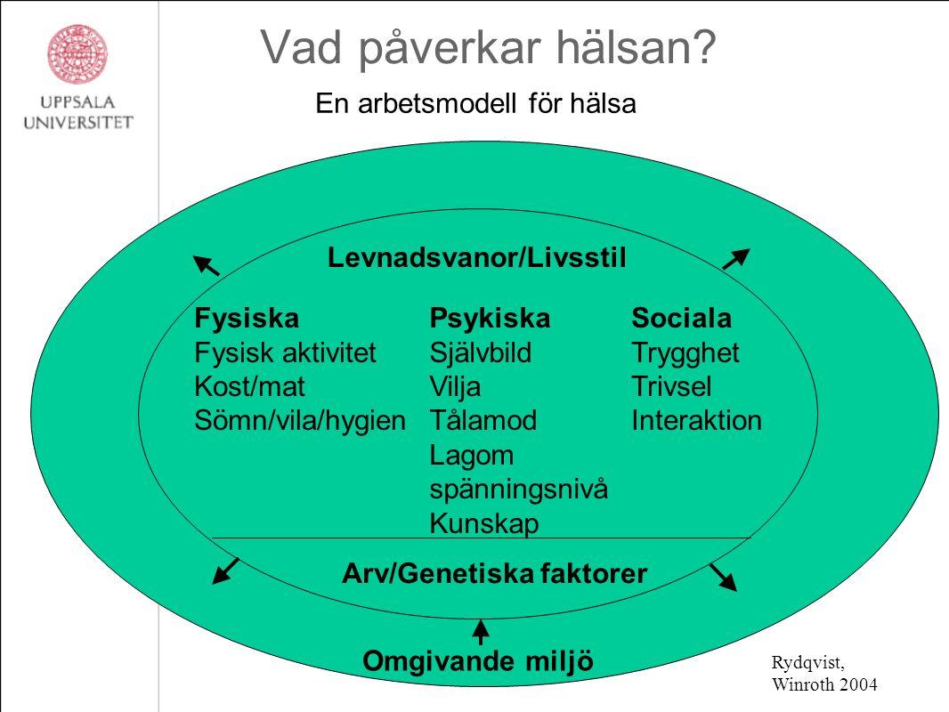 En arbetsmodell för hälsa