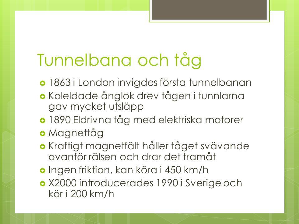Tunnelbana och tåg 1863 i London invigdes första tunnelbanan
