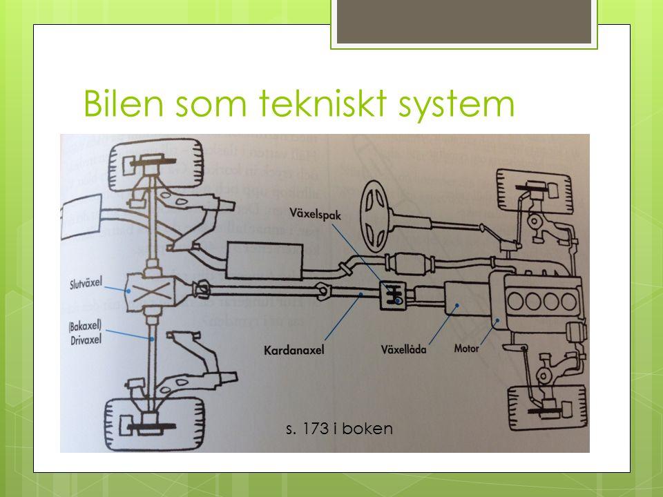Bilen som tekniskt system