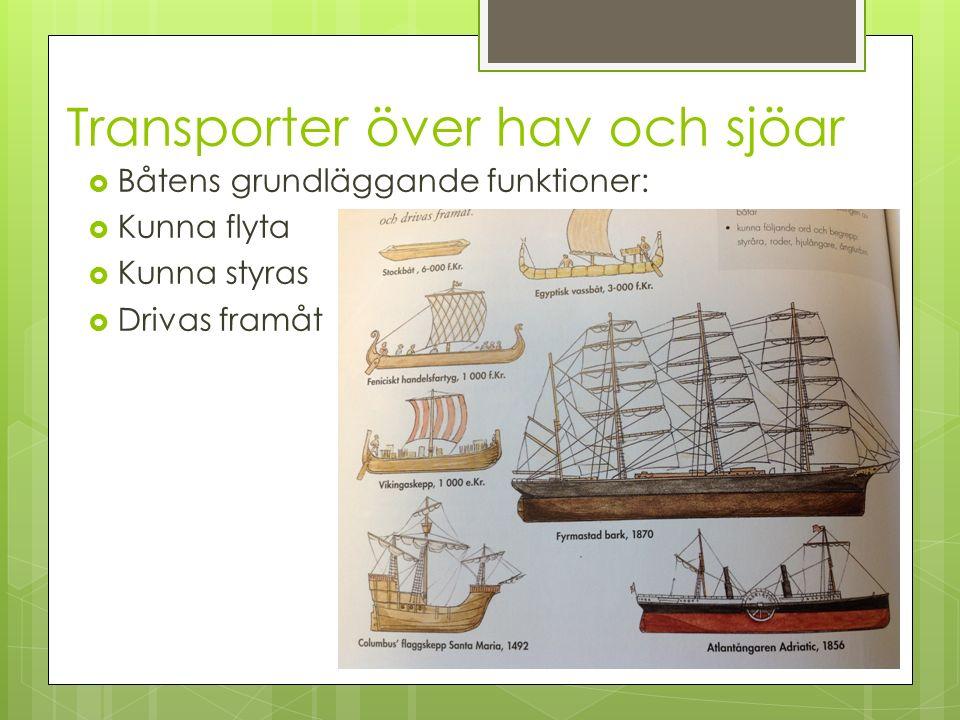 Transporter över hav och sjöar