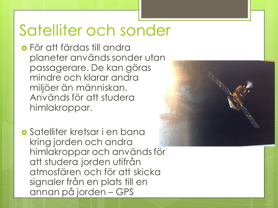 Satelliter och sonder