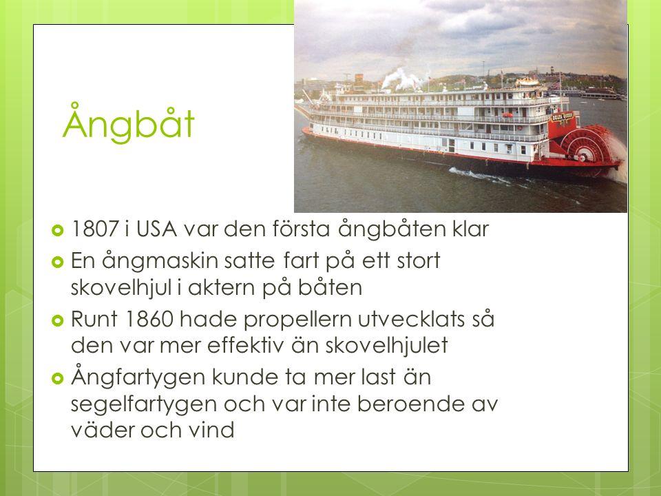 Ångbåt 1807 i USA var den första ångbåten klar