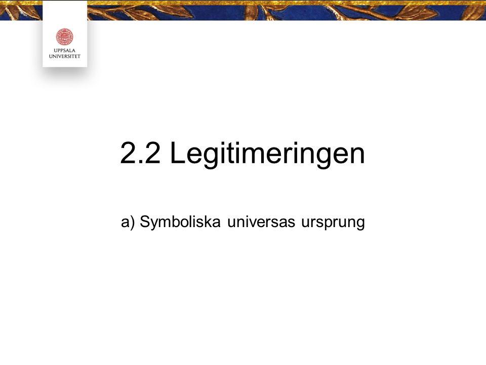 a) Symboliska universas ursprung