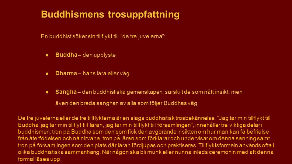 Buddhismens trosuppfattning