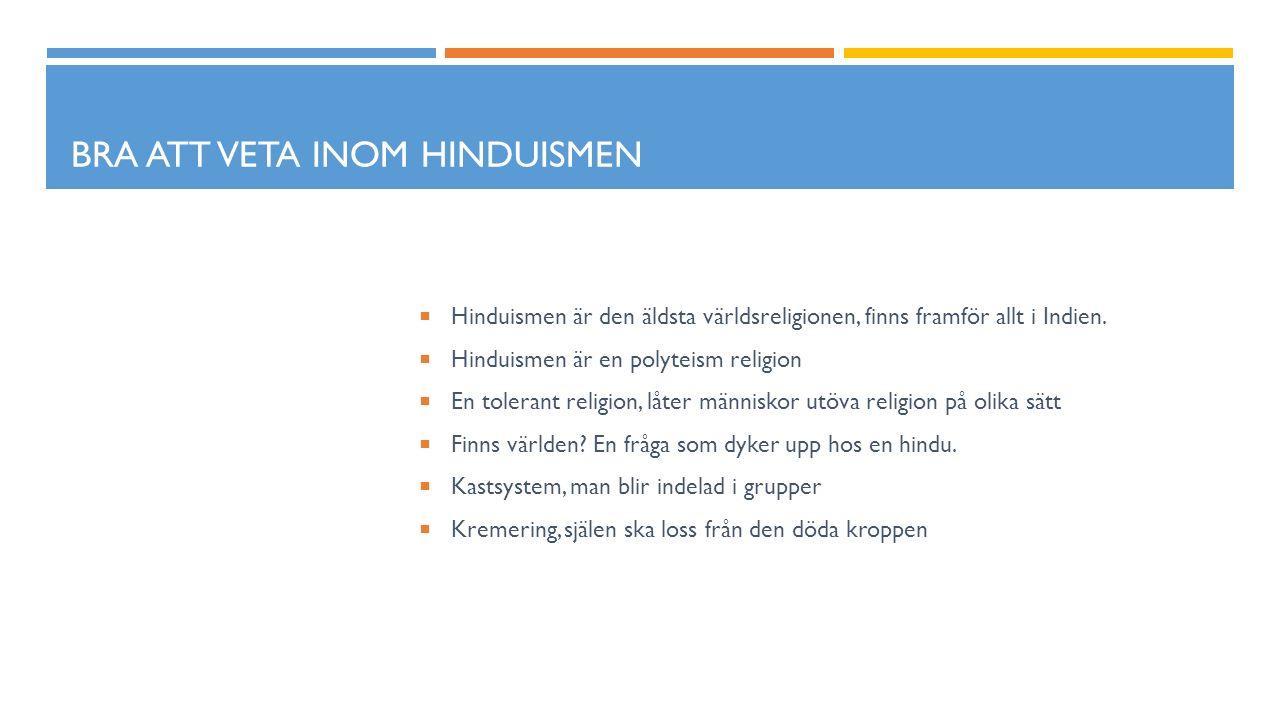 Bra att veta inom hinduismen