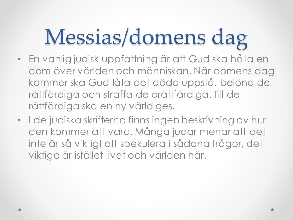 Messias/domens dag