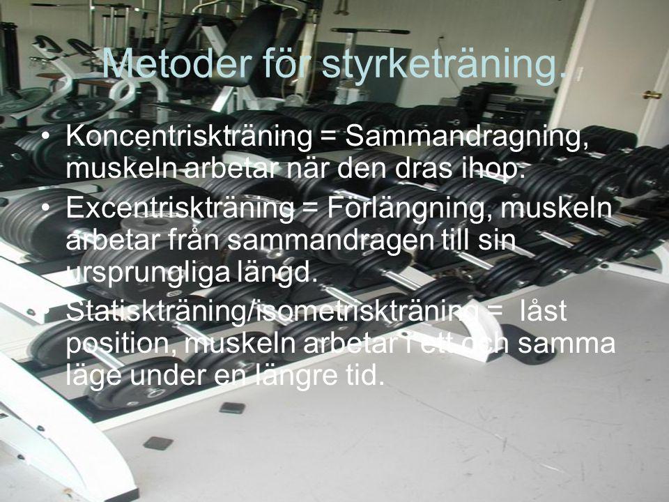 Metoder för styrketräning.