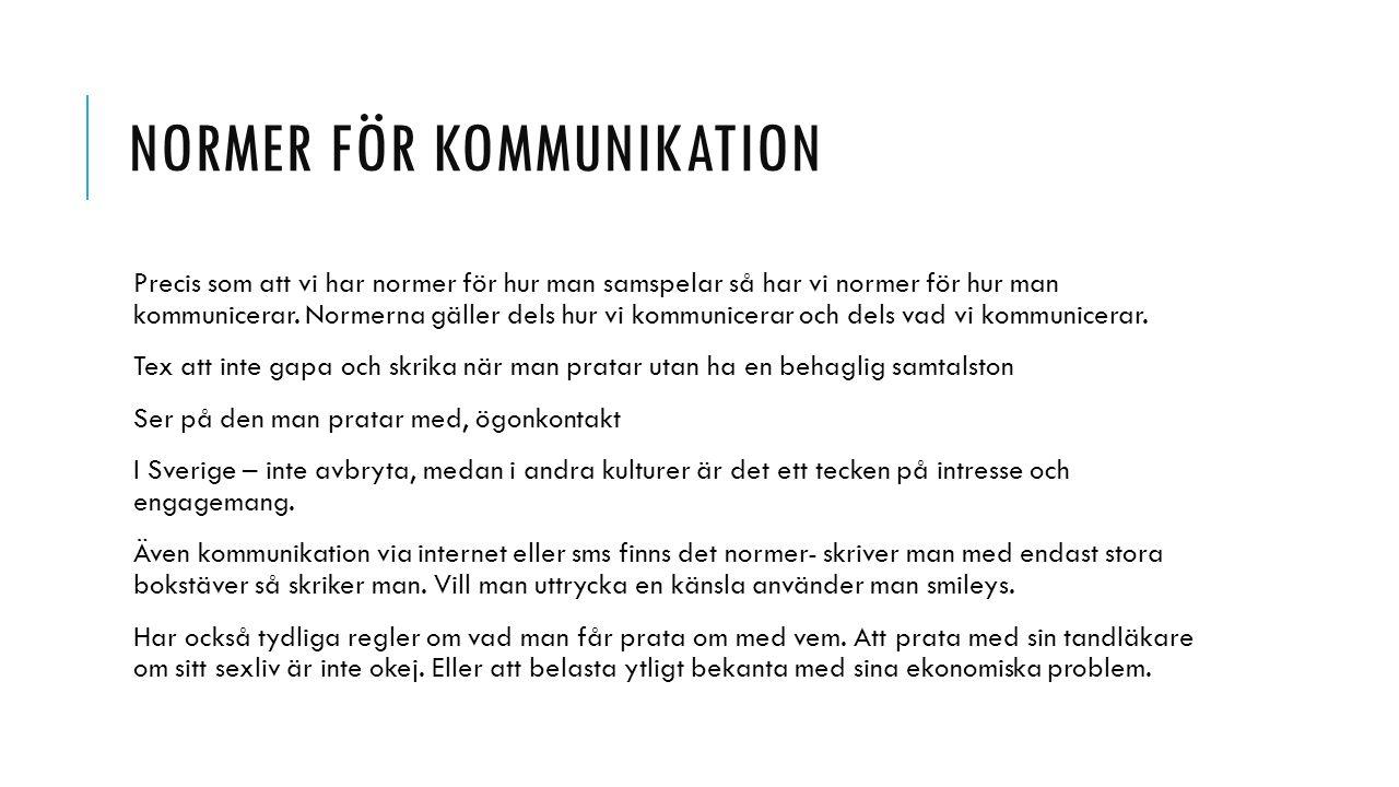 Normer för kommunikation