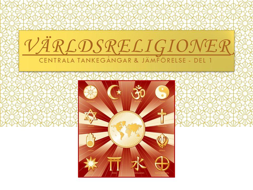 Världsreligioner Centrala tankegångar & jämförelse - Del 1