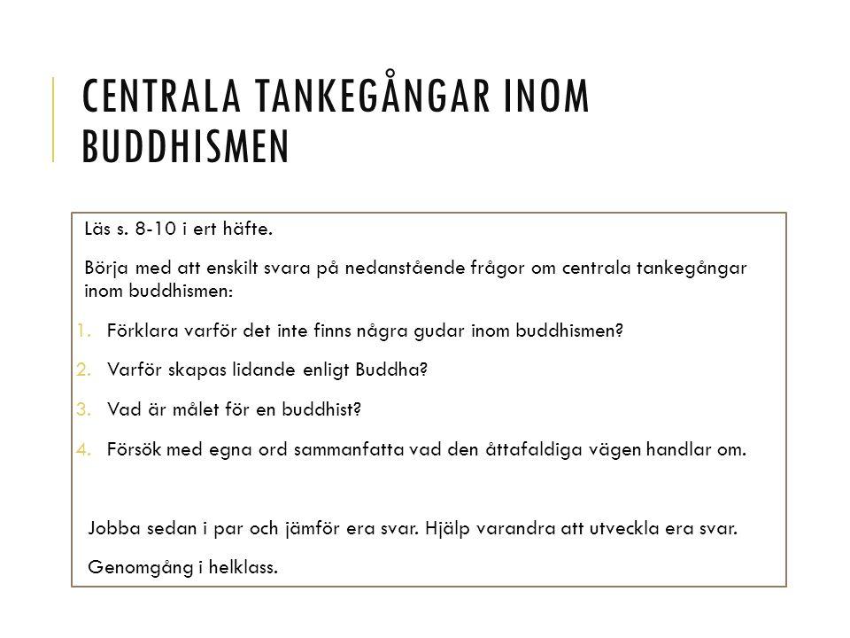 Centrala tankegångar inom buddhismen