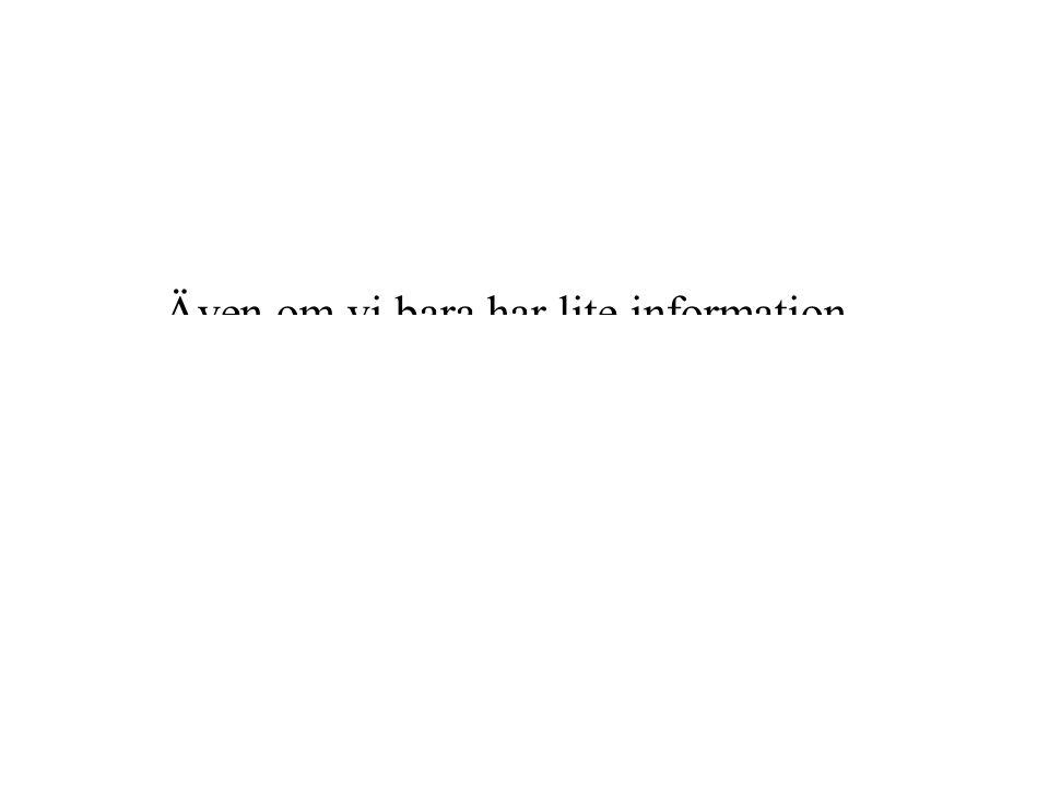 Även om vi bara har lite information