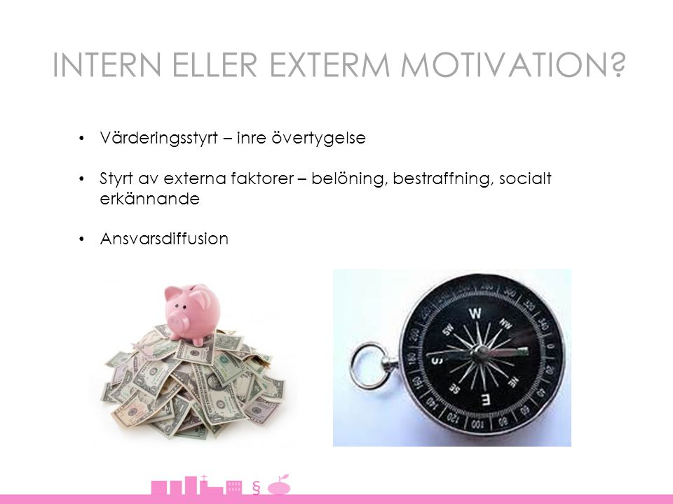 INTERN ELLER EXTERM MOTIVATION