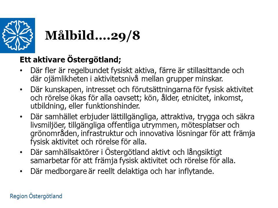 Målbild….29/8 Ett aktivare Östergötland;