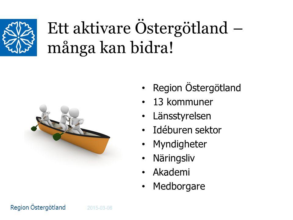 Ett aktivare Östergötland – många kan bidra!