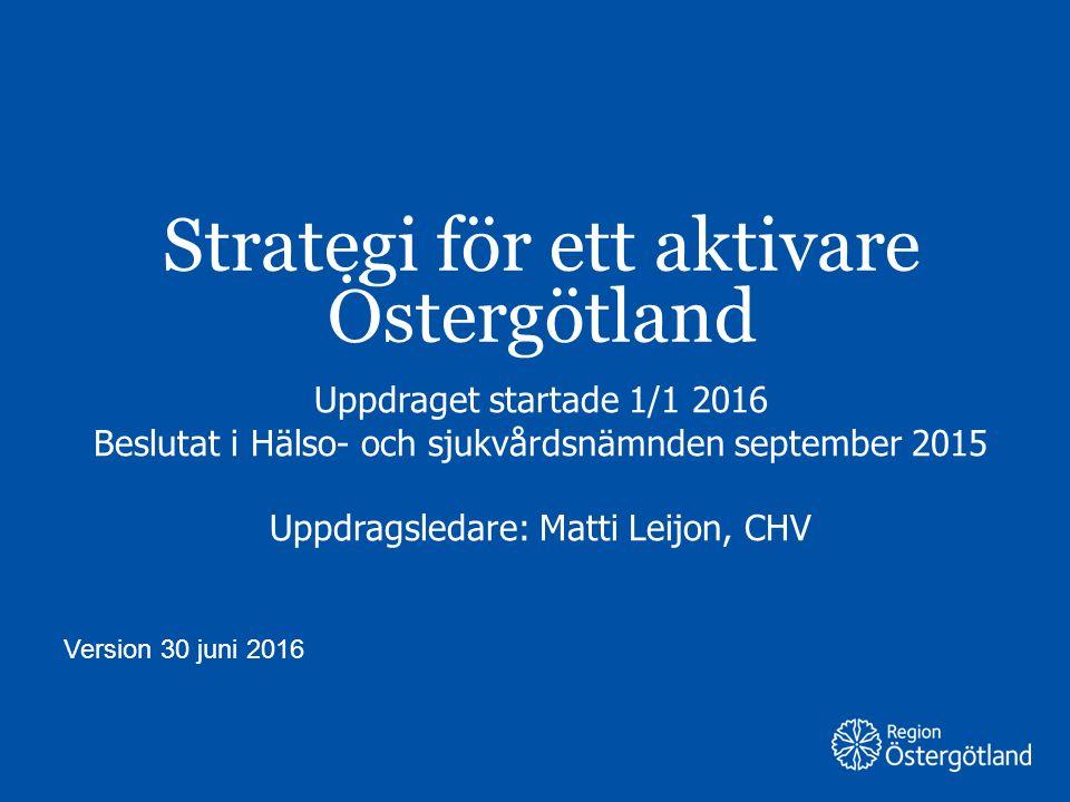 Strategi för ett aktivare Östergötland
