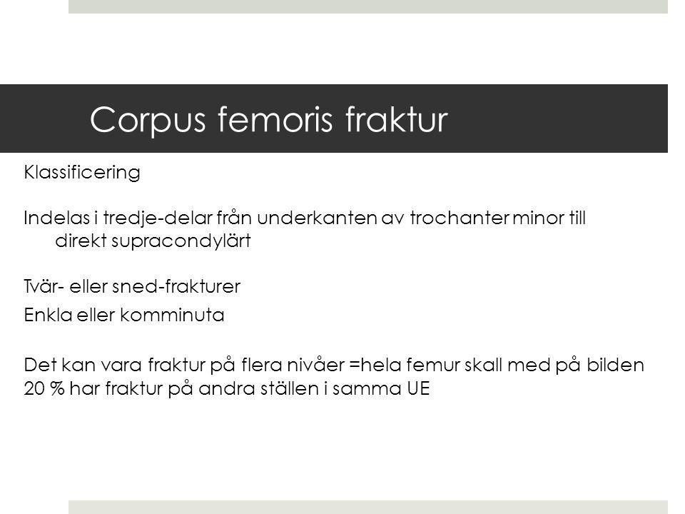 Corpus femoris fraktur