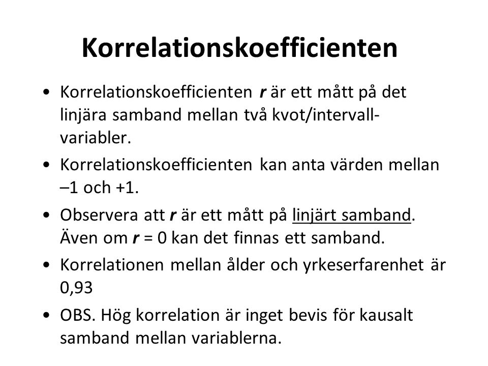 Korrelationskoefficienten