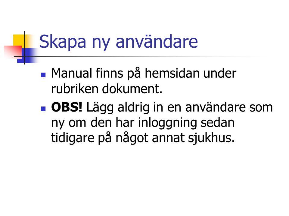 Skapa ny användare Manual finns på hemsidan under rubriken dokument.