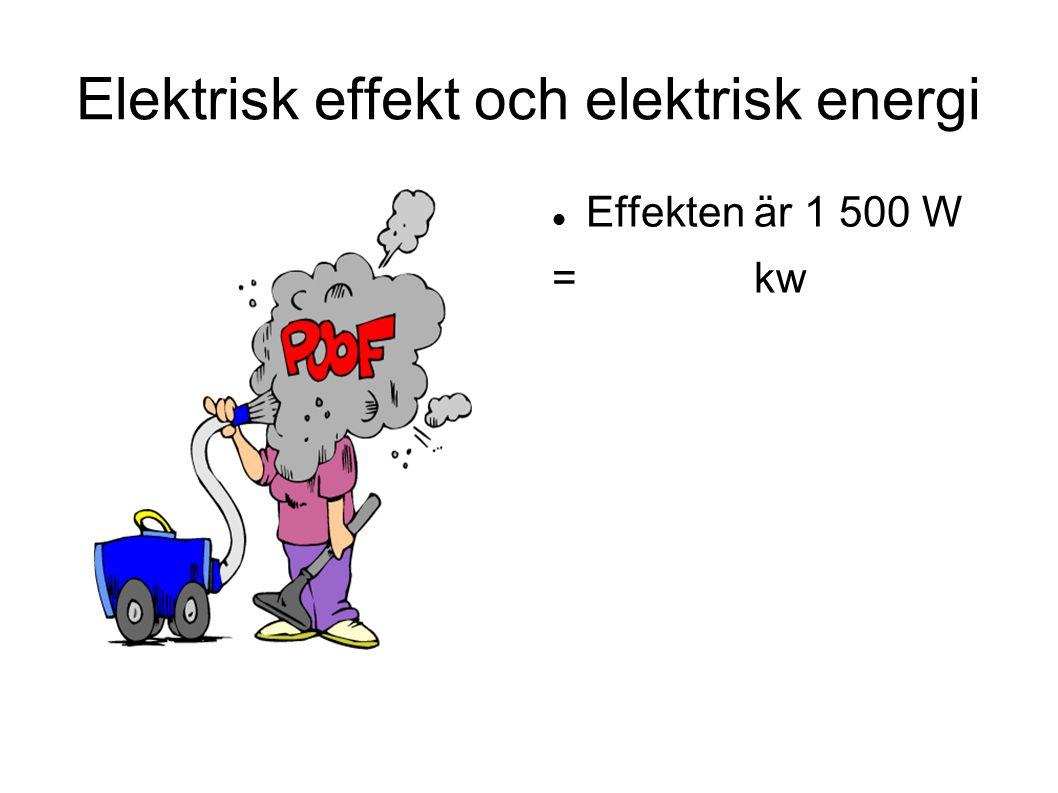 Elektrisk effekt och elektrisk energi
