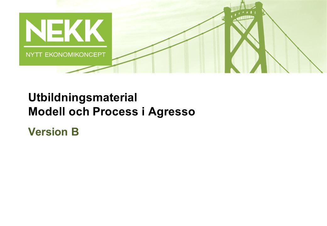 Utbildningsmaterial Modell och Process i Agresso