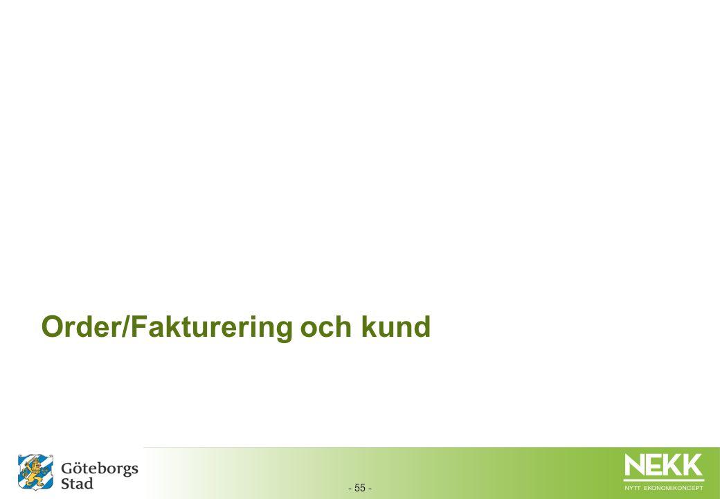 Order/Fakturering och kund