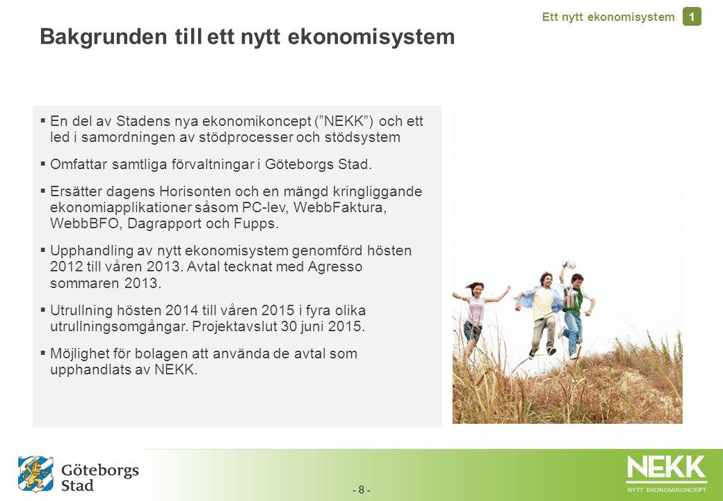 Bakgrunden till ett nytt ekonomisystem