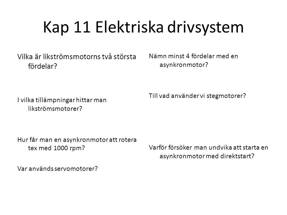 Kap 11 Elektriska drivsystem