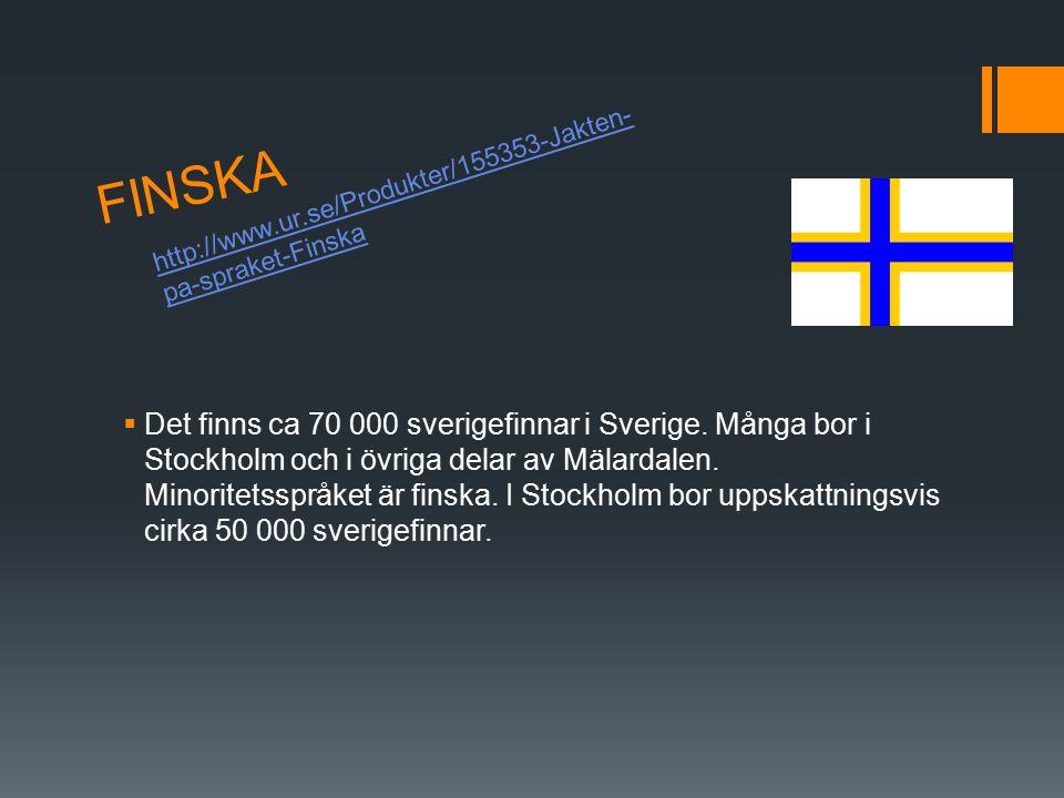 FINSKA http://www.ur.se/Produkter/155353-Jakten-pa-spraket-Finska.