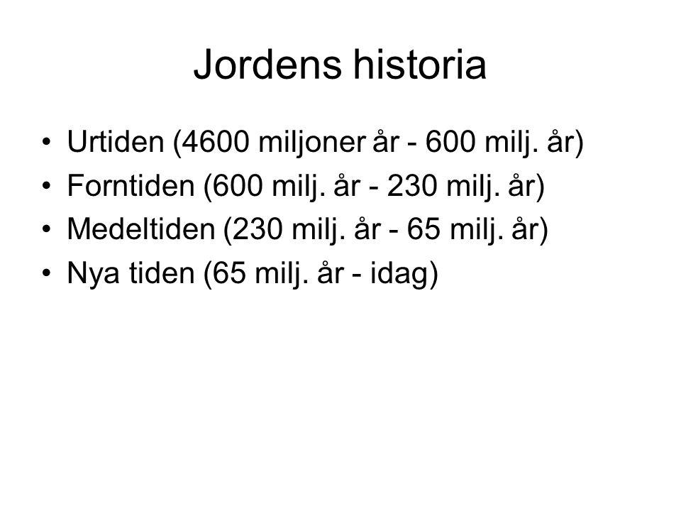 Jordens historia Urtiden (4600 miljoner år - 600 milj. år)