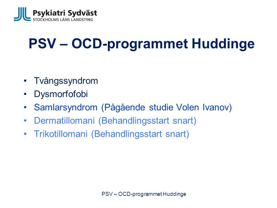 PSV – OCD-programmet Huddinge