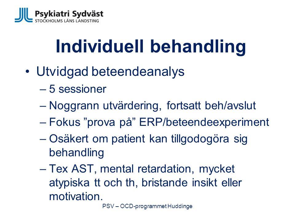 Individuell behandling