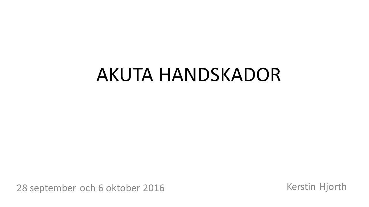 Akuta handskador Kerstin Hjorth 28 september och 6 oktober 2016