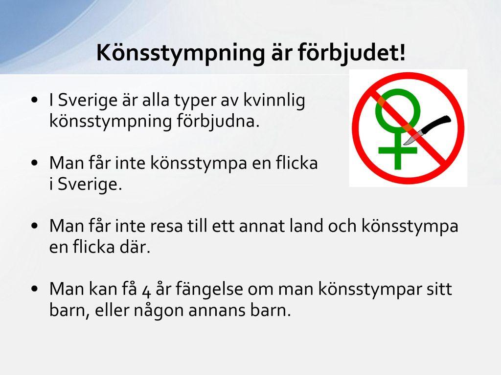 Könsstympning är förbjudet!
