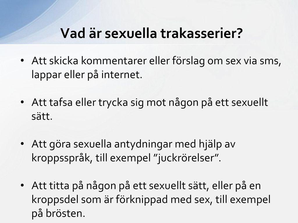 Vad är sexuella trakasserier
