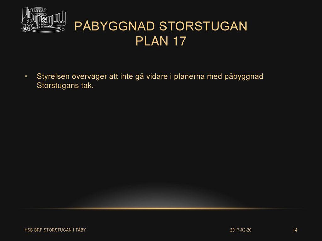 påbyggnad storstugan plan 17