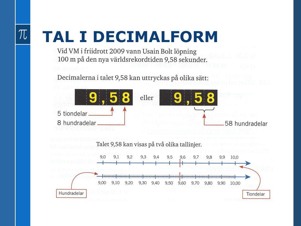 TAL I DECIMALFORM