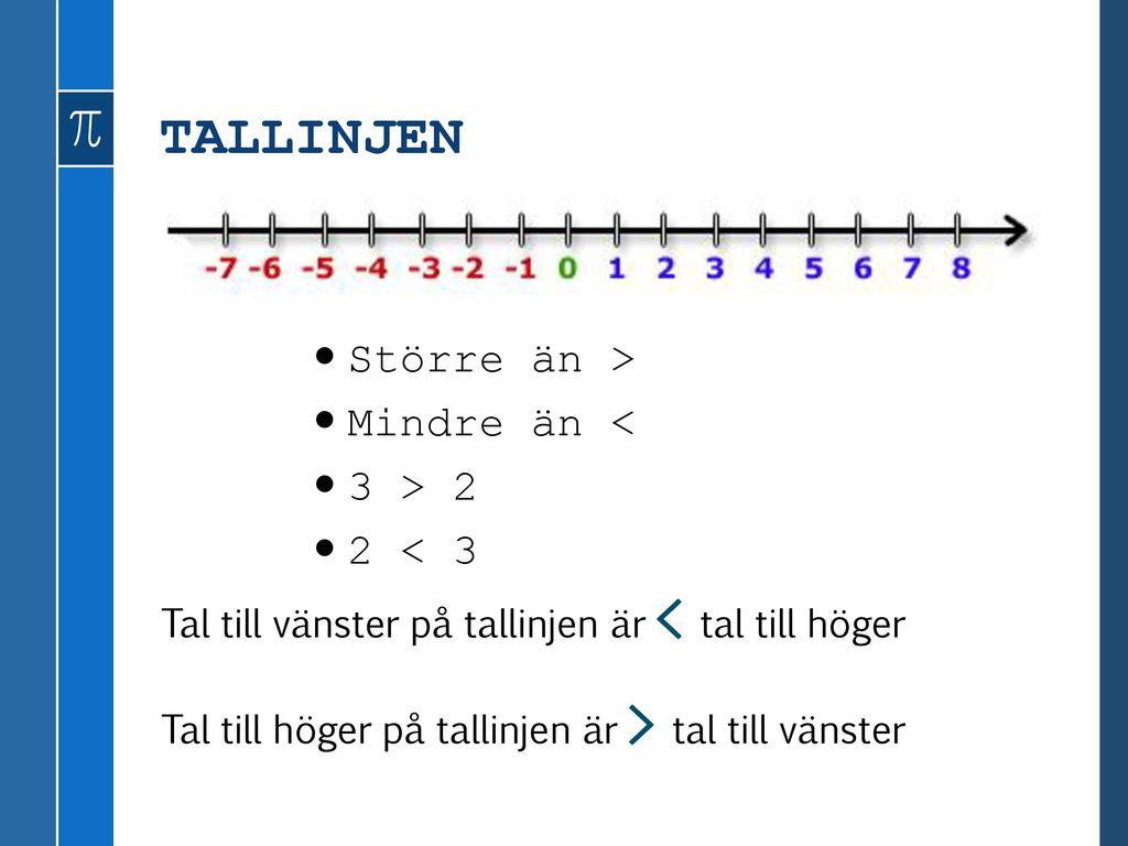 PÅ RÄKNAREN 3 – (-3)= 6