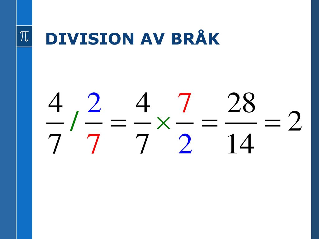 MULTIPLIKATION AV BRÅK