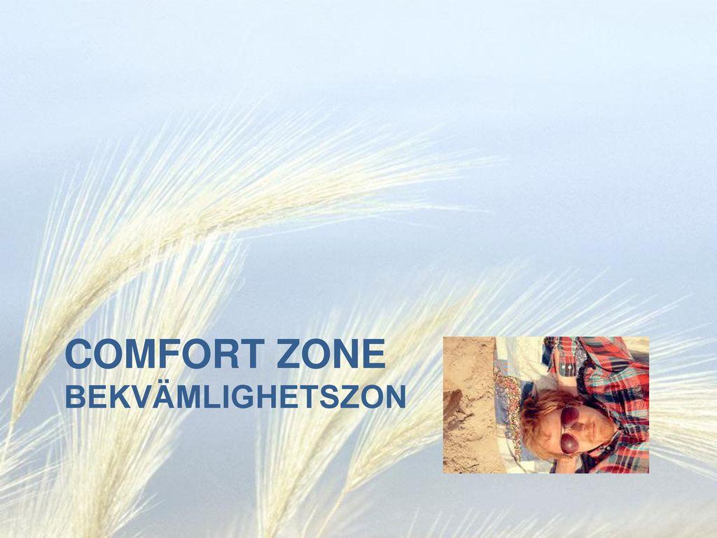 Comfort Zone bekvämlighetszon